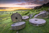 Stanage Edge Millstones at Sunrise, Peak District National Park, Derbyshire Photographic Print by Andrew Sproule