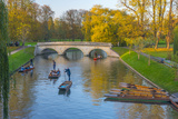Punting on the Backs, River Cam, Cambridge, Cambridgeshire, England, United Kingdom, Europe Photographic Print by Alan Copson