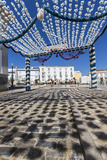 Colors and Decoration in the Pedestrian Centre of Tavira on a Sunny Summer Day, Faro, Algarve Photographic Print by Roberto Moiola