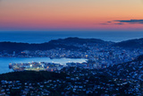 Overlooking the City of Wellington, its Harbour and Beyond to the Cook Straits at Dusk, Wellington Photographic Print by Garry Ridsdale