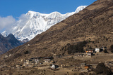 The Beautiful Village of Laya in the Himalayas, Bhutan, Asia Photographic Print by Alex Treadway