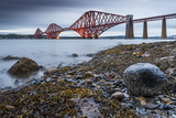 First Light over the Forth Rail Bridge, UNESCO World Heritage Site, and the Firth of Forth Photographic Print by Andrew Sproule