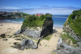 Suspension Bridge at Towan Beach, Newquay, Cornwall, England, United Kingdom, Europe Photographic Print by Rob Cousins