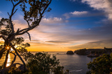 Sunrise Along the Rugged, Lush Coromandel Peninsula on the Eastern Side of North Island, Waikato Photographic Print by Garry Ridsdale
