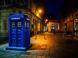 A Police Box in Glasgow, Scotland, United Kingdom, Europe Photographic Print by Jim Nix
