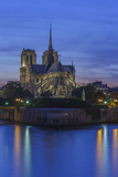 The Medieval Notre Dame Cathedral on the Ile De La Cite in Early Evening Light and River Seine Photographic Print by Garry Ridsdale