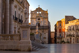 The Cathedral and Piazza Duomo in Early Morning on the Tiny Island of Ortygia Photographic Print by Martin Child