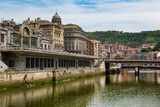 Bilbao-Abando Railway Station and the River Nervion, Bilbao, Biscay (Vizcaya) Photographic Print by Martin Child