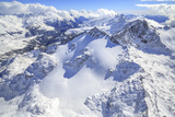 Aerial View of Peak Ferra Covered with Snow, Spluga Valley, Chiavenna, Valtellina, Lombardy Photographic Print by Roberto Moiola
