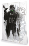 Star Wars Rogue One - Death Trooper Grunge Wood Sign