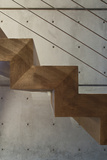 Wooden Staircase Detail Photo by Amit Geron