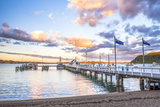 Russell Pier at Sunset, Bay of Islands, Northland Region, North Island, New Zealand, Pacific Photographic Print by Matthew Williams-Ellis