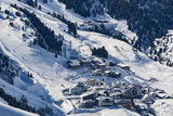The Austrian Skiing Village of Obergurgl Covered in Winter Snow at the End of the Otztal Valley Photographic Print by Garry Ridsdale