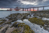 Dawn Breaks over the Forth Rail Bridge, UNESCO World Heritage Site, and the Firth of Forth Photographic Print by Andrew Sproule