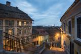 Sibiu, a 12th Century Saxon City at Night, Transylvania, Romania, Europe Photographic Print by Matthew Williams-Ellis