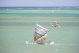 Fisherman Fishing from a Pirogue, a Traditional Madagascar Sailing Boat, Ifaty, Madagascar, Africa Photographic Print by Matthew Williams-Ellis