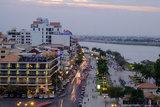 Sisowath Riverside, Along the Bassac River, Phnom Penh, Cambodia, Indochina, Southeast Asia, Asia Photographic Print by Nathalie Cuvelier
