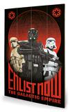 Star Wars Rogue One - Enlist Now Panneau en bois