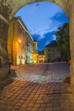 Sighisoara at Night in the Historic Centre of the 12th Century Saxon Town, Sighisoara Photographic Print by Matthew Williams-Ellis