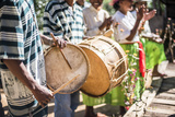 Drums and Traditional Music at Ambohimahasoa, Haute Matsiatra Region, Madagascar Central Highlands Photographic Print by Matthew Williams-Ellis