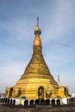 Mount Zwegabin Monastery's Gold Stupa, Hpa An, Kayin State (Karen State), Myanmar (Burma), Asia Photographic Print by Matthew Williams-Ellis