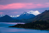Mount Earnslaw, New Zealand's Southern Alps Against Early Evening Sky Beyond Lake Wakatipu Photographic Print by Garry Ridsdale