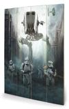 Star Wars Rogue One - Stormtrooper Patrol Panneau en bois