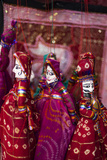 Colorful Puppets Hanging in a Shop in Udaipur, Rajasthan, India, Asia Photographic Print by Alex Treadway