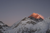 Sun Sets on Mount Everest Seen from Kala Patar, Khumbu, Himalayas, Nepal, Asia Photographic Print by Alex Treadway