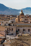 View of the Rooftops of Palermo with the Hills Beyond, Sicily, Italy, Europe Photographic Print by Martin Child