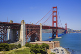 Looking across San Francisco Golden Gate Bridge with Fort George at Edge of Pacific Ocean Photographic Print by Garry Ridsdale