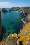 Kynance Cove on the Lizard Peninsula, Cornwall, England, United Kingdom, Europe Photographic Print by Alex Treadway