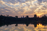 Sunrise, Angkor Vat Temple, Built in 12th Century by King Suryavarman Ii Photographic Print by Nathalie Cuvelier