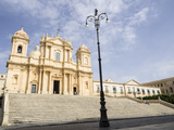 The Cathedral, UNESCO World Heritage Site, Noto, Sicily, Italy, Europe Photographic Print by Jean Brooks