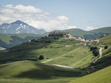 View from the Piano Grande Towards Castelluccio, Umbria, Italy, Europe Photographic Print by Jean Brooks
