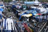 Slum Washing Ghats, Mumbai (Bombay), Maharashtra, India, Asia Photographic Print by James Strachan
