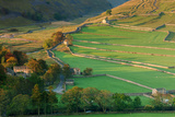 Early Morning Light on Dry Stone Walls and Fields Beside Yorkshire Dales Village of Arncliffe Photographic Print by Garry Ridsdale