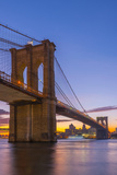 Brooklyn Bridge over East River, New York, United States of America, North America Photographic Print by Alan Copson