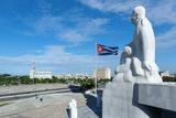A Statue of Jose Marti Looks Down onto the Plaza De La Revolucion in the Vedado Area of Havana Photographic Print by Garry Ridsdale