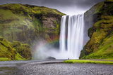Skogafoss Waterfall Situated on the Skoga River in the South Region, Iceland, Polar Regions Photographic Print by Andrew Sproule