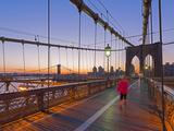 Brooklyn Bridge and Manhattan Bridge Beyond, Manhattan, New York Photographic Print by Alan Copson