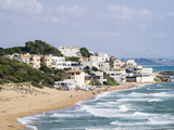 Beach and Town of Marinella Di Selinunte, Sicily, Italy, Mediterranean, Europe Photographic Print by Jean Brooks