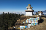 Colourful Mani Wall on a Chorten in the Solukhumbu Region of Nepal, Asia Photographic Print by Alex Treadway
