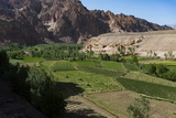 Rugged Landscapes and Green Patchwork Fields Near Shahr-E Zohak, Afghanistan, Asia Photographic Print by Alex Treadway