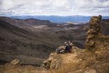 Couple Resting on the Tongariro Alpine Crossing, Tongariro National Park Photographic Print by Matthew Williams-Ellis