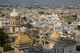 View across Udaipur from the City Palace, Udaipur, Rajasthan, India, Asia Photographic Print by James Strachan