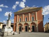 Civic Theatre, Piazza Vittorio Veneto, Norcia, Umbria, Italy, Europe Photographic Print by Jean Brooks
