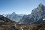 Ama Dablam Seen from the Cho La Pass in the Khumbu Region, Himalayas, Nepal, Asia Photographic Print by Alex Treadway