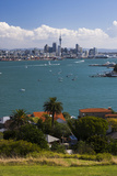 Auckland City Skyline and Auckland Harbour Seen from Devenport, North Island, New Zealand, Pacific Photographic Print by Matthew Williams-Ellis