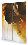 Star Wars Rogue One - Jyn Silhouette Panneau en bois